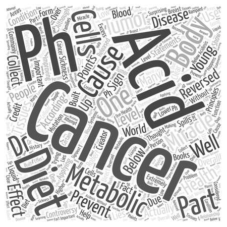 reversed: Cancer and the pH miracle diet Word Cloud Concept
