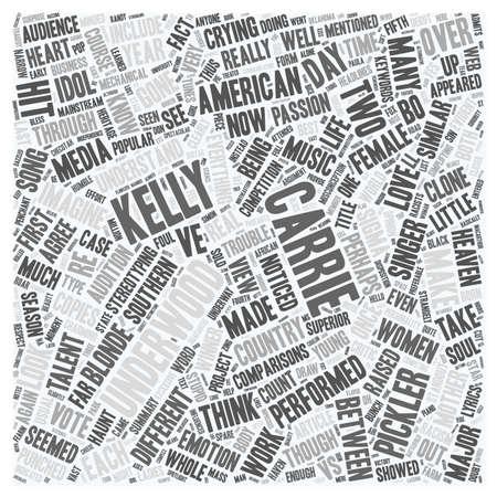 misconception: Carrie Underwood Vs Kellie Pickler text background wordcloud concept
