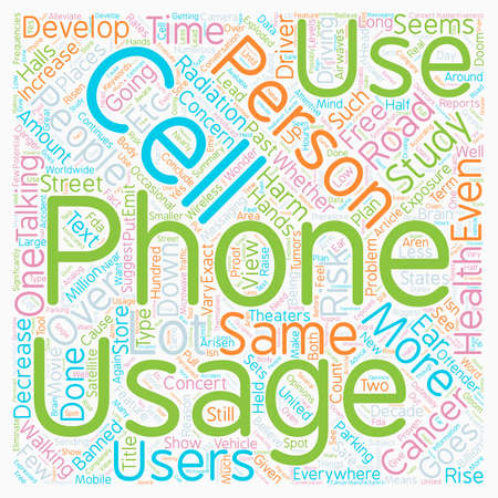 Can Cell Phones Harm Your Health text background wordcloud concept