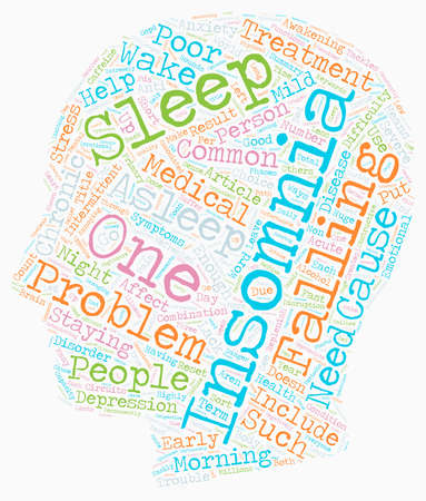 Can t Get Enough on Insomnia text background wordcloud concept