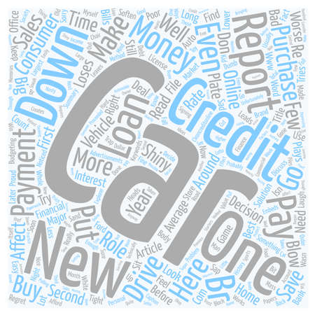 Cars and Credit Reports text background wordcloud concept 向量圖像