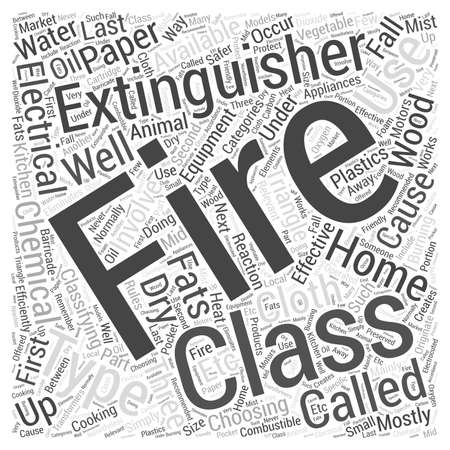 classifying: Choosing a Fire Extinguisher for Your Home Word Cloud Concept