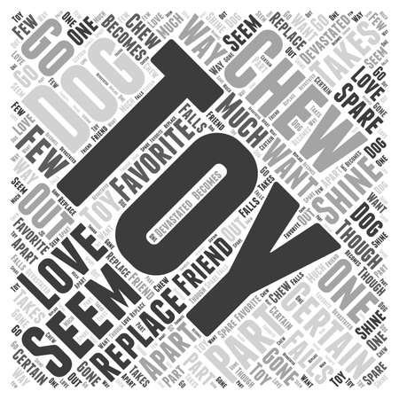 chew: chew toy Word Cloud Concept Illustration