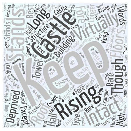 Castle Rising Word Cloud Concept Illusztráció