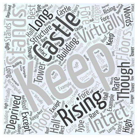 Castle Rising Word Cloud Concept Illustration