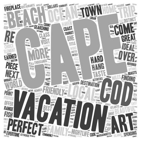 cape cod home: Cape Cod Your Home Away From Home text background wordcloud concept