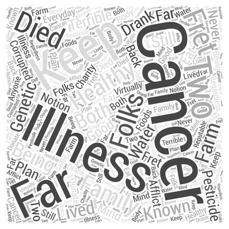cancer charity Word Cloud Concept Ilustração