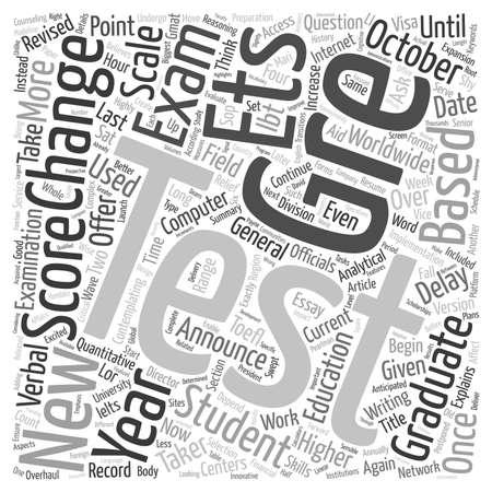 Change In GRE postponed until 2007 text background wordcloud concept