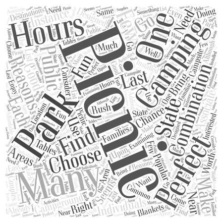 reasons: Camping and Picnics The Perfect Combination Word Cloud Concept