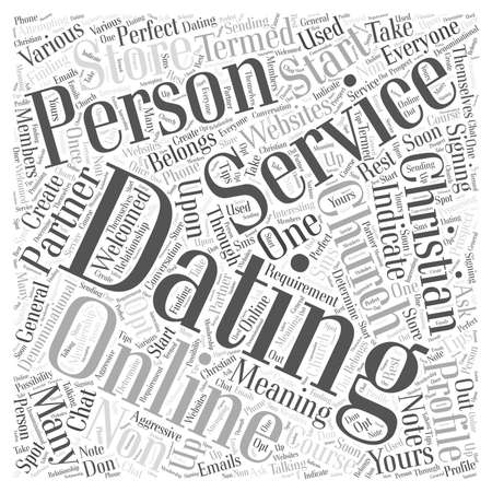 christian online dating services Word Cloud Concept
