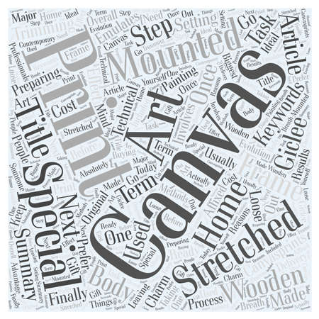 Canvas Prints and Canvas Art Word Cloud Concept
