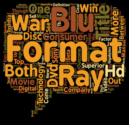 Blu ray Is Superior To HD DVD In Terms Of Capacity text background wordcloud concept Illustration