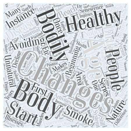 Bodily Changes and Healthy Aging Word Cloud Concept