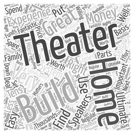 easy money: Building a Great Home Theater Word Cloud Concept
