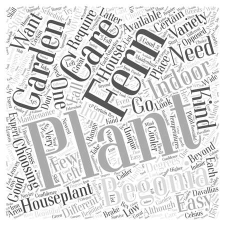 Choosing an Indoor Houseplant Word Cloud Concept