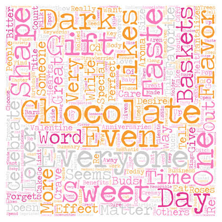 Chocolate Is Great text background wordcloud concept