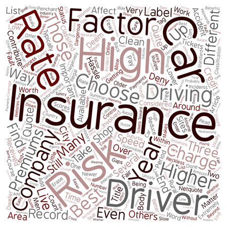 hassle: Car Insurance For High Risk Drivers text background wordcloud concept
