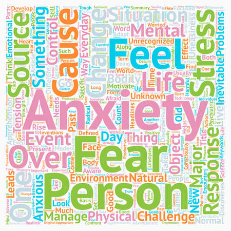 Change Major Source of Stress and Anxiety text background wordcloud concept