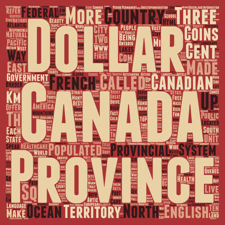 Canada text background wordcloud concept