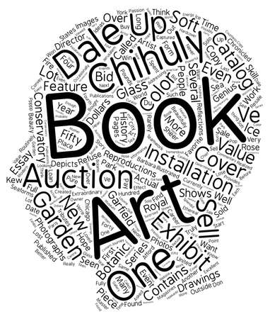 chihuly: books about dale chihuly text background wordcloud concept