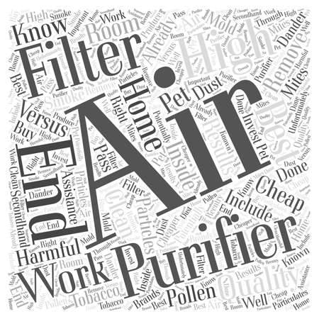 potentially: Cheap Air Filters versus High End Air Filters Word Cloud Concept