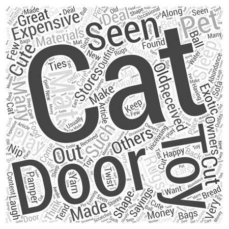 katten deurmat Word Cloud Concept