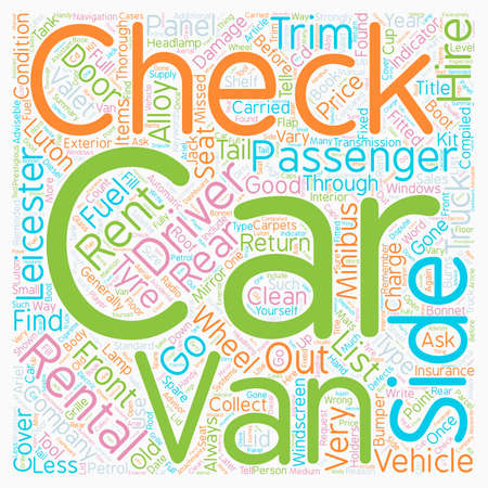 Checks Carried Out By Rental Companies text background wordcloud concept