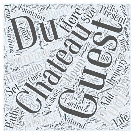 cachet: Chateau Du Sureau Word Cloud Concept