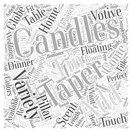 Candles Add Warmth and Comfort to Your Home Word Cloud Concept