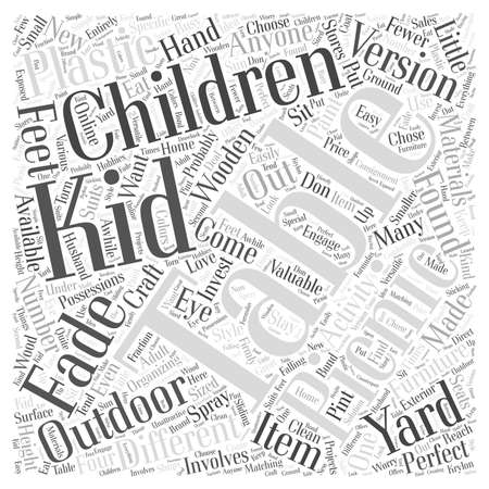 fewer: childrens picnic table Word Cloud Concept