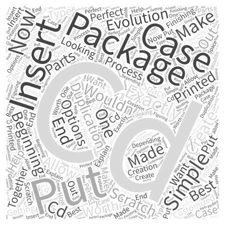 CDs in a package Word Cloud Concept Illustration