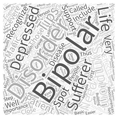 bipolar symptom Word Cloud Concept