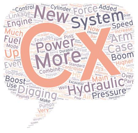Case CX text background wordcloud concept Illustration