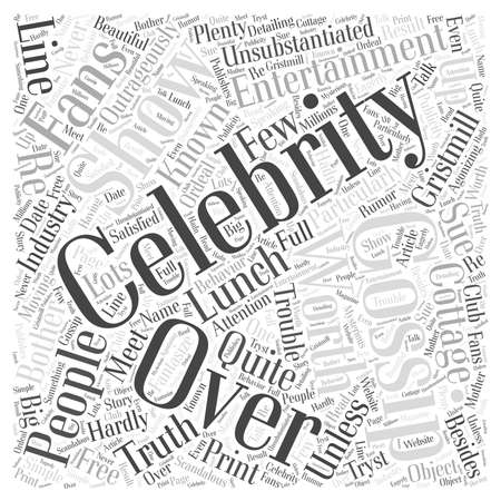 gristmill: celebrity gossip Word Cloud Concept Illustration