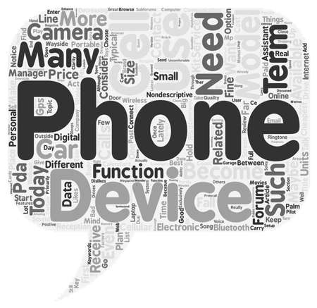 Cell Phone or PDA text background wordcloud concept