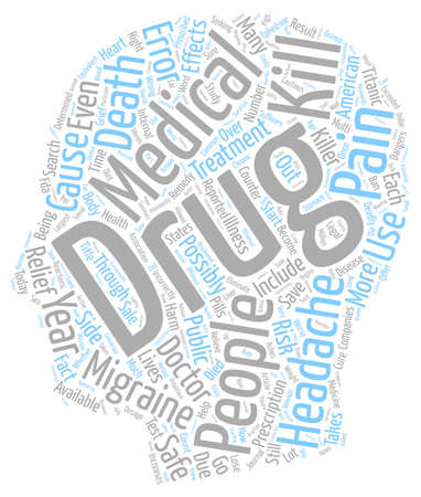 oblivious: Can the Cure for Headaches be Worse Than the Pain text background wordcloud concept