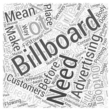 Creative Outdoor Ads Word Cloud Concept