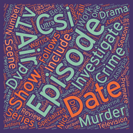 nominated: CSI DVD Review text background wordcloud concept Illustration