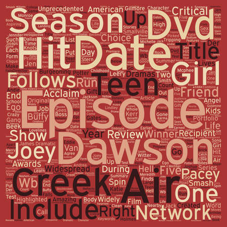 Dawson s Creek Season 6 DVD Review text background wordcloud concept