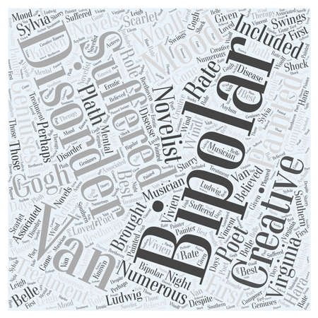 poet: Creativity and Bipolar Disorder Word Cloud Concept