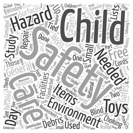 choking: Day Care Safety Word Cloud Concept