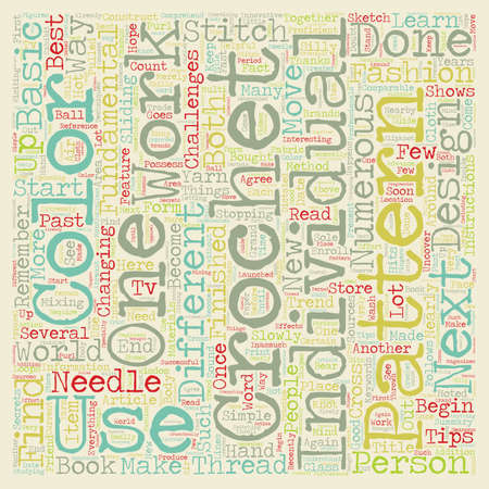 thread count: Crochet Tips To Remember text background wordcloud concept