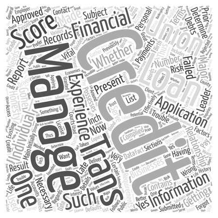 complied: credit score trans union Word Cloud Concept Illustration