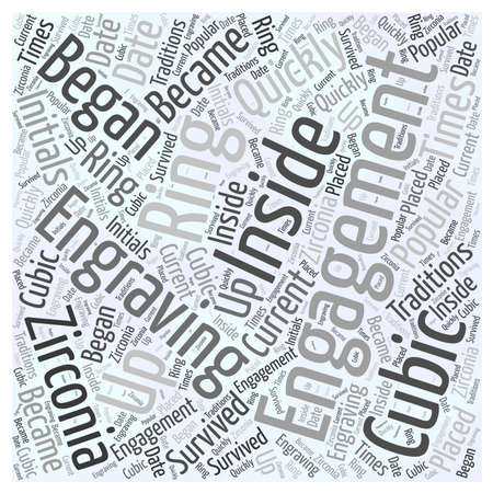 engravings: Cubic Zirconia Engagement Rings Word Cloud Concept