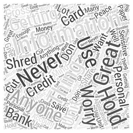 cross cut paper shredder Word Cloud Concept Illustration