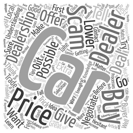 Dealership Scams Out There Text Hintergrund Konzept Wordcloud