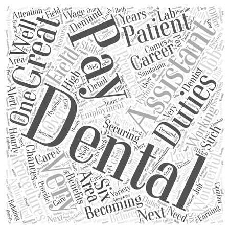 dental assistant: Dental Assistant Pay Word Cloud Concept