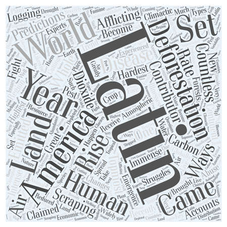 Deforestation In Latin America Afflicting The World In Countless Ways Word Cloud Concept