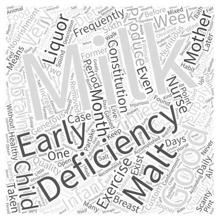 deficiency: DEFICIENCY OF MILK Word Cloud Concept