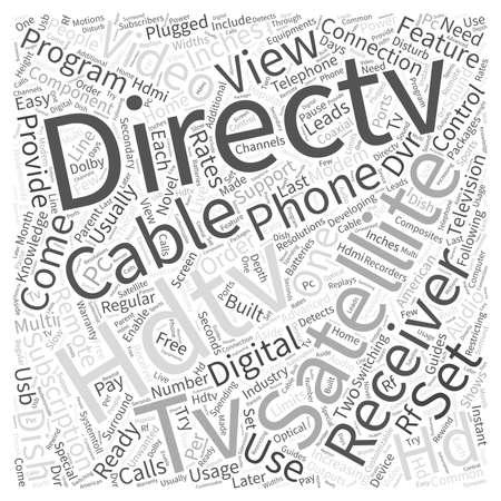 hdtv: directv satellite hdtv receivers Word Cloud Concept